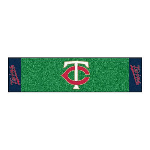 "18"" x 72"" Green and Red MLB Minnesota Twins Golf Putting Mat - IMAGE 1"