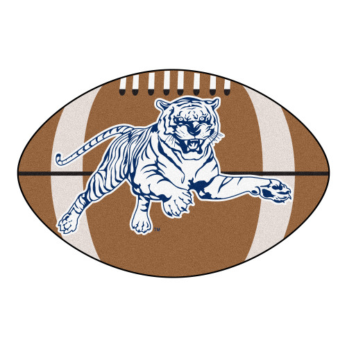 """20.5"""" x 32.5"""" Brown and White NCAA Jackson State University Tigers Football Mat - IMAGE 1"""