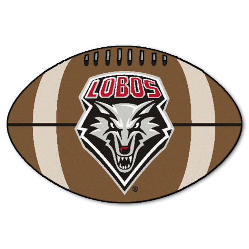 """20.5"""" x 32.5"""" Brown and Black NCAA University of New Mexico Mat Area Rug - IMAGE 1"""