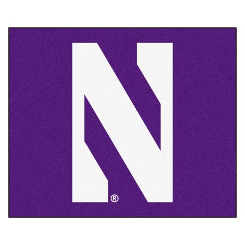 "59.5"" x 94.5"" Purple and White NCAA Northwestern University Demons Tailgater Area Rug - IMAGE 1"