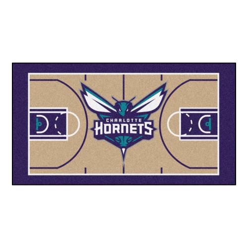NBA Charlotte Hornets NBA Court Non-Skid Mat Area Rug Runner - IMAGE 1