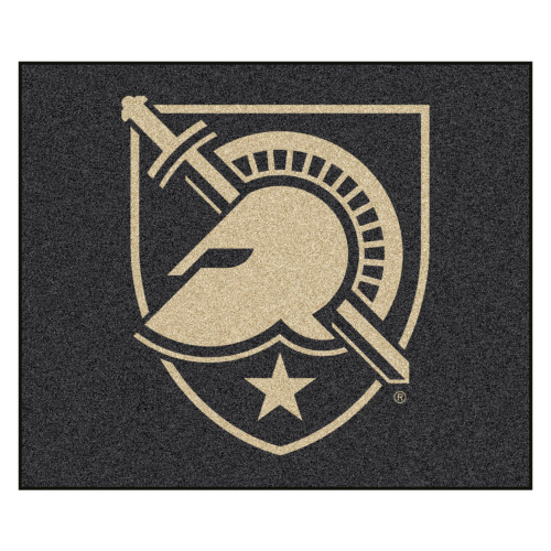 5' x 6' Black and Beige Contemporary U.S. Military Academy Rectangular Outdoor Area Rug - IMAGE 1