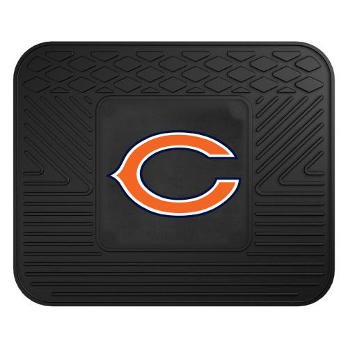"14"" x 17"" Black NFL Chicago Bears Rear Car Seat Utility Mat - IMAGE 1"