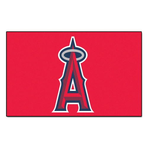 """59.5"""" x 94.5"""" Red and Blue MLB Los Angeles Angels Ulti-Mat Rectangular Outdoor Area Rug - IMAGE 1"""