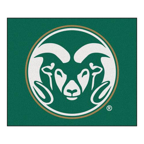 "59.5"" x 71"" Green and White NCAA Colorado State University Rams Rectangular Tailgater Mat - IMAGE 1"