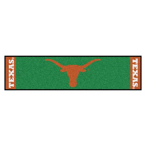 "18"" x 72"" Green and Orange NCAA University of Texas Longhorns Golf Putting Mat - IMAGE 1"