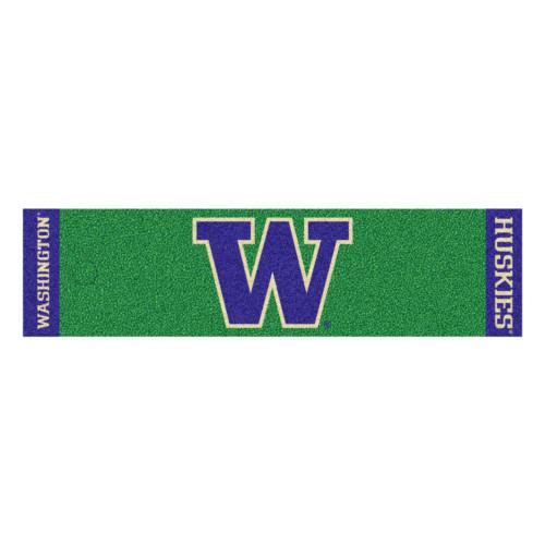 "18"" x 72"" Green NCAA University of Washington Huskies Golf Putting Mat - IMAGE 1"