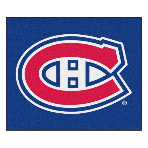 5' x 6' Blue and Red NHL Montreal Canadiens Tailgater Mat Rectangular Outdoor Area Rug - IMAGE 1