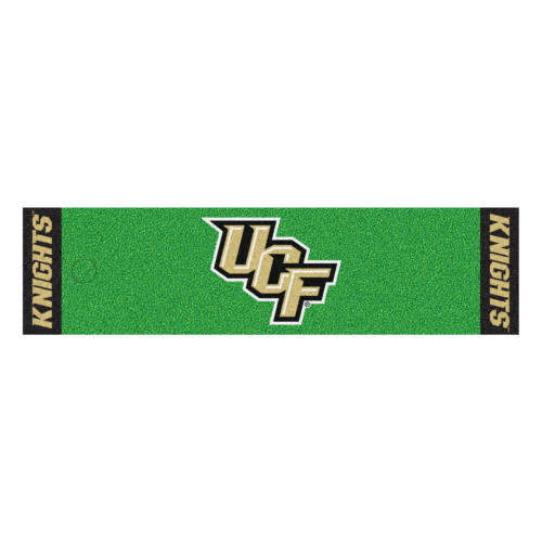 """18"""" x 72"""" Green and Black NCAA University of Central Florida Knights Putting Golf Mat - IMAGE 1"""