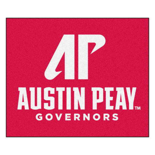 """59.5"""" x 71"""" Red NCAA Austin Peay State University Governors Tailgater Mat Outdoor Area Rug - IMAGE 1"""