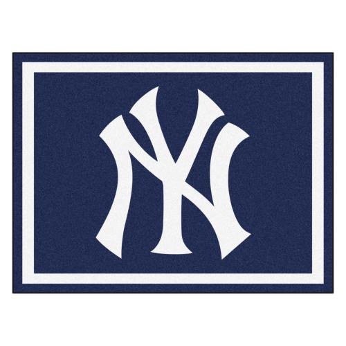 "8"" x 10"" MLB New York Yankees Emblem Non-Skid Plush Area Throw Rug - IMAGE 1"