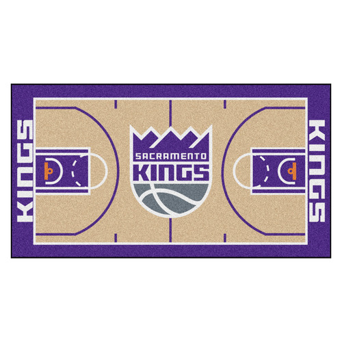 "24"" x 44"" Beige and Purple NBA Sacramento Kings Court Rug Runner - IMAGE 1"