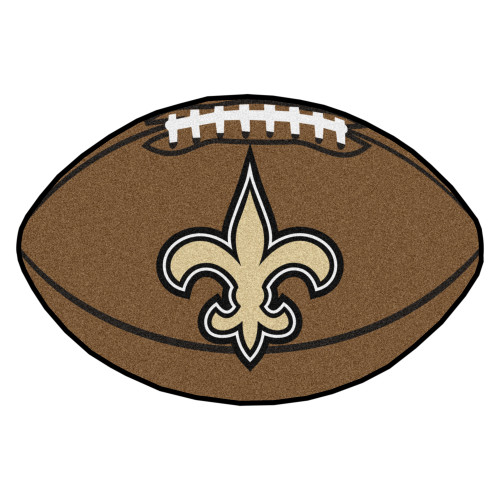"""2.5"""" x 32.5"""" Brown and Beige NFL New Orleans Saints Football Mat Area Rug - IMAGE 1"""