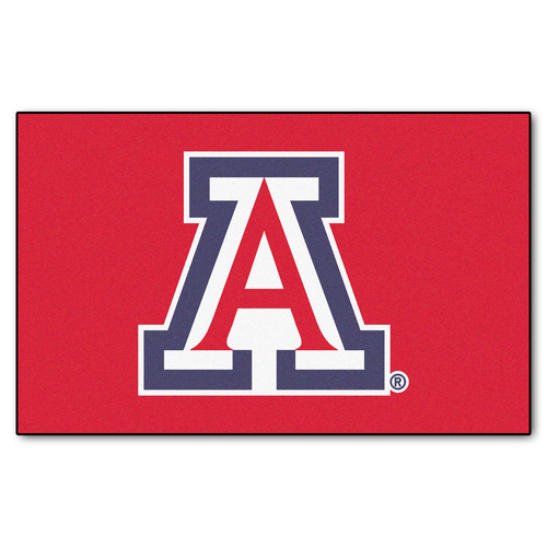 """59.5"""" x 94.5"""" Red and Blue NCAA University of Arizona Wildcats Ulti-Mat Outdoor Area Rug - IMAGE 1"""