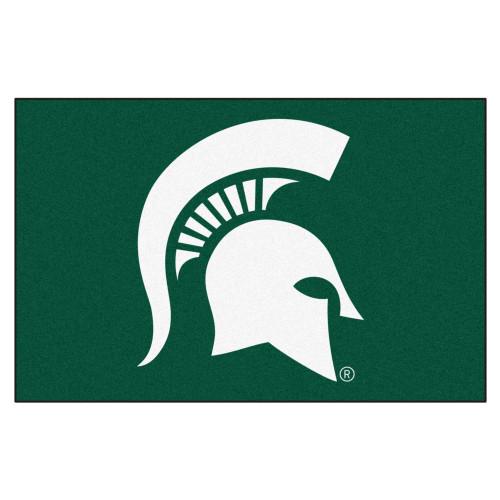 "NCAA Michigan State University Spartans Rectangular Starter Mat 19"" x 30"" - IMAGE 1"