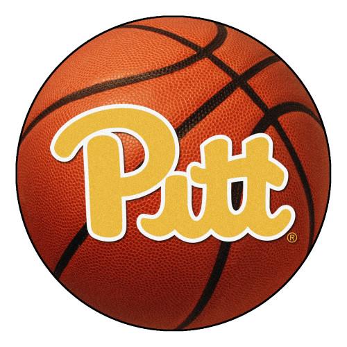 "27"" Orange and Yellow NCAA University of Pittsburgh Panthers Basketball Door Mat - IMAGE 1"