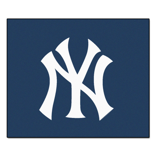 """59.5"""" x 71"""" Blue and White MLB New York Yankees Tailgater Mat Outdoor Area Rug - IMAGE 1"""