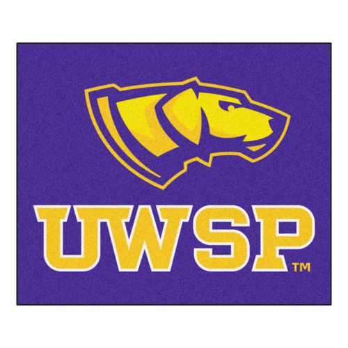"59.5"" x 71"" Purple and Yellow NCAA University of Wisconsin Stevens Rectangular Tailgater Mat - IMAGE 1"