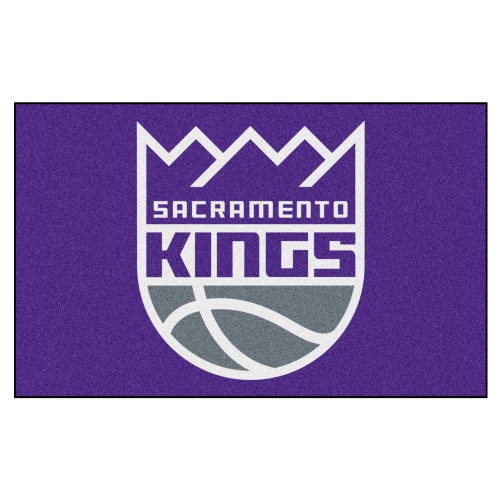 "59.5"" x 94.5"" Purple and White NBA Sacramento Kings Ulti-Mat Rectangular Outdoor Area Rug - IMAGE 1"