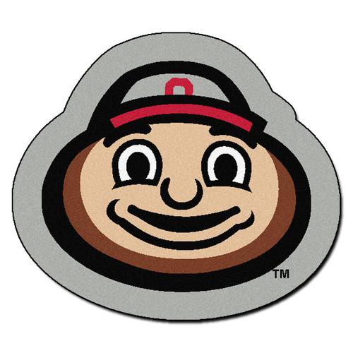"30"" x 34.3"" Gray NCAA Ohio State University Buckeyes Mascot Mat - IMAGE 1"