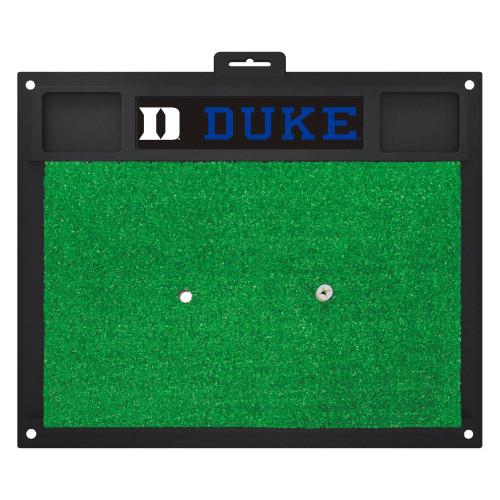 "20"" x 17"" Black and Green NCAA Duke University Blue Devils Golf Hitting Mat - IMAGE 1"