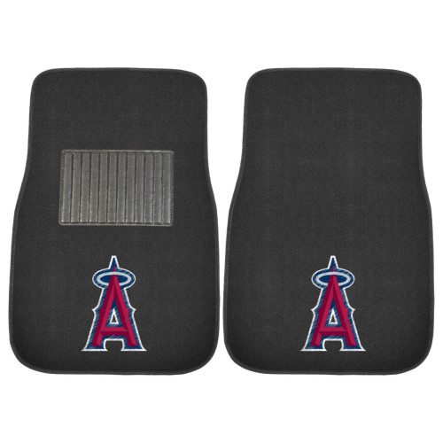 MLB Los Angeles Angels 2-PC Embroidered Front Car Mat Set, Universal Size - IMAGE 1