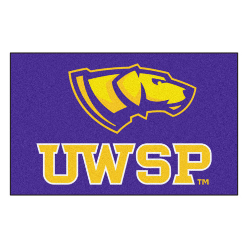 "59.5"" x 94.5"" Purple and Yellow NCAA University of Wisconsin Ulti-Mat Rectangular Area Rug - IMAGE 1"
