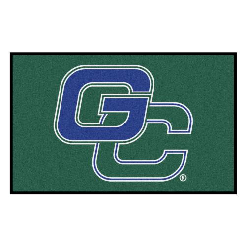 """59.5"""" x 94.5"""" Green and Blue NCAA Georgia College Bobcats Ulti-Mat Rectangular Area Rug - IMAGE 1"""