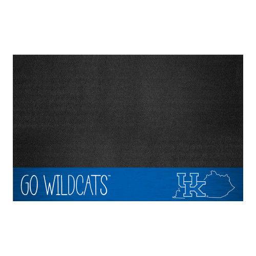 """26"""" x 42"""" Black and Blue NCAA University of Kentucky Wildcats Grill Mat Outdoor Area Rug - IMAGE 1"""