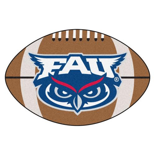 "20.5"" x 32.5"" Brown and Blue NCAA Florida Atlantic University Owls Football Mat - IMAGE 1"