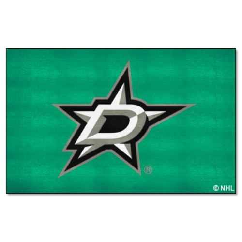 5' x 8' White and Black NHL Dallas Stars Ulti-Mat Rectangular Area Rug - IMAGE 1