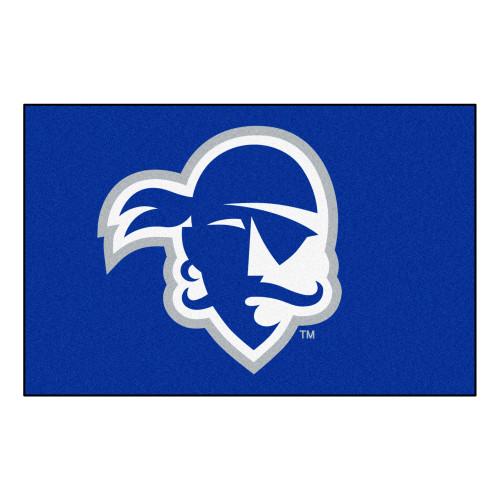 "19"" x 30"" Blue and White Contemporary NCAA Seton Hall University Pirates Rectangular Starter Mat - IMAGE 1"