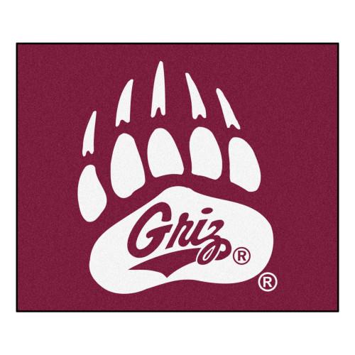 "59.5"" x 71"" Red NCAA University of Montana Grizzlies Rectangular Tailgater Mat Outdoor Area Rug - IMAGE 1"