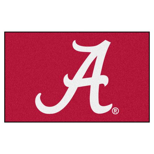"59.5"" x 94.5"" Red and White NCAA University of Alabama Crimson Tide Area Rug - IMAGE 1"