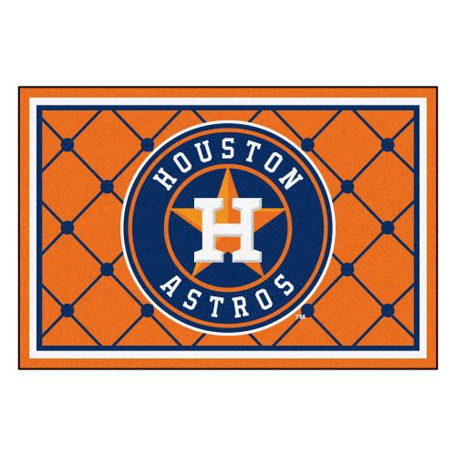 4.9' x 7.3' Orange MLB Houston Astros Plush Area Rug - IMAGE 1