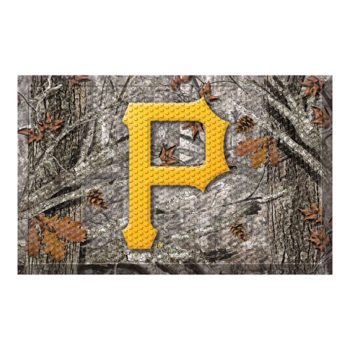 "Gold and Gray MLB Pittsburgh Pirates Shoe Scraper Doormat 19"" x 30"" - IMAGE 1"