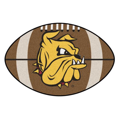 "20.5"" x 32.5"" Brown and Yellow NCAA University of Minnesota Duluth Bulldogs Football Mat - IMAGE 1"