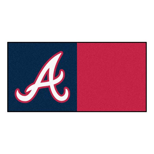 MLB Atlanta Braves Team Carpet Tile Flooring Squares, 20-PC Set - IMAGE 1