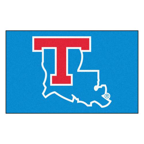 "59.5"" x 94.5"" Blue and Red NCAA Louisiana Tech University Tigers Ulti-Mat Area Rug - IMAGE 1"