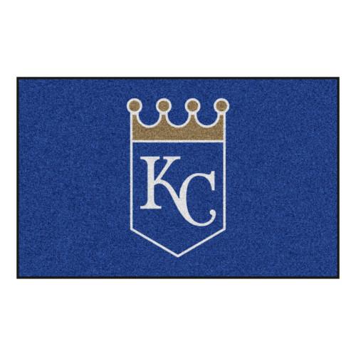 "59.5"" x 94.5"" Blue and White MLB Kansas City Royals Mat Rectangular Area Rug - IMAGE 1"