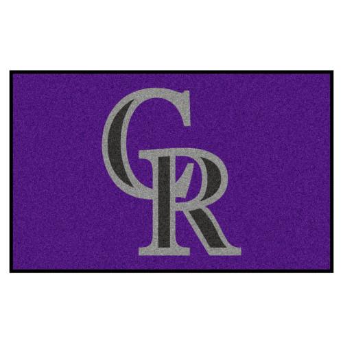 "59.5"" x 94.5"" Purple and Gray MLB Colorado Rockies Ulti-Mat Rectangular Area Rug - IMAGE 1"