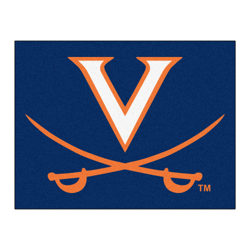 """33.75"""" x 42.5"""" Blue and White NCAA University of Virginia Cavaliers All Star Mat - IMAGE 1"""