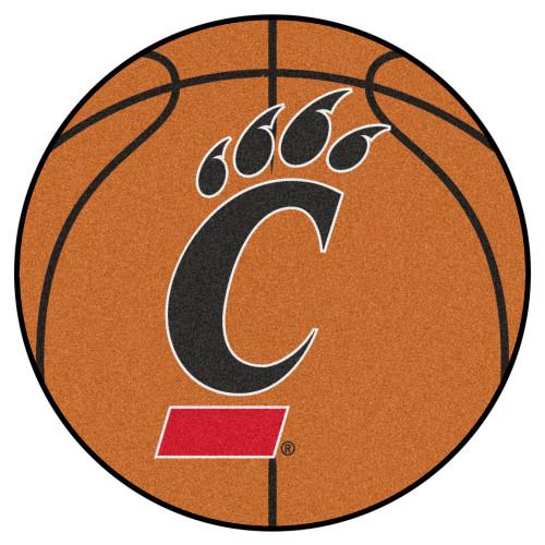 "27"" NCAA University of Cincinnati Bearcats Basketball Shaped Door Mat - IMAGE 1"
