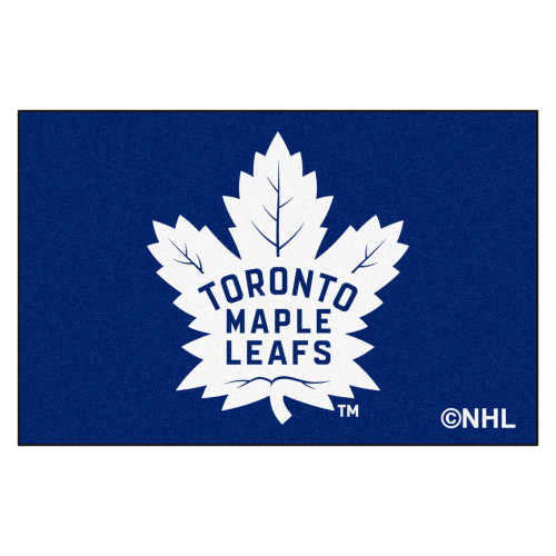 """19"""" x 30"""" Blue and White NHL Toronto Maple Leafs Starter Rectangular Welcome Door Mat - IMAGE 1"""