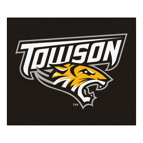 """59.5"""" x 71"""" Black NCAA Towson University Tigers Tailgater Area Rug - IMAGE 1"""