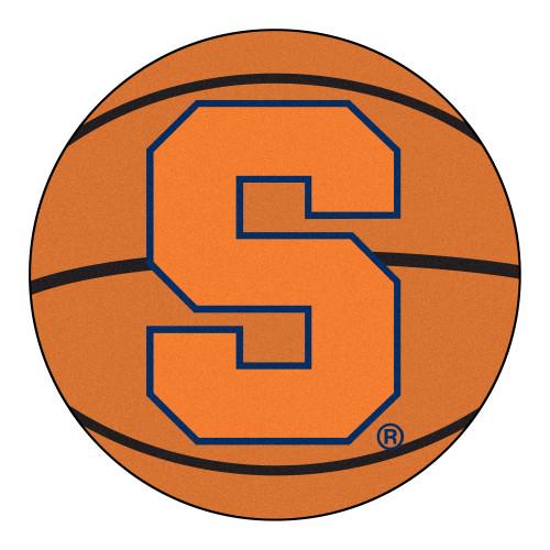 """27"""" Orange and Black NCAA Syracuse University Orange Mat - IMAGE 1"""