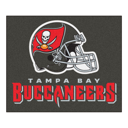"""59.5"""" x 71"""" Gray and Red NFL Tampa Bay Buccaneers Rectangular Tailgater Mat - IMAGE 1"""