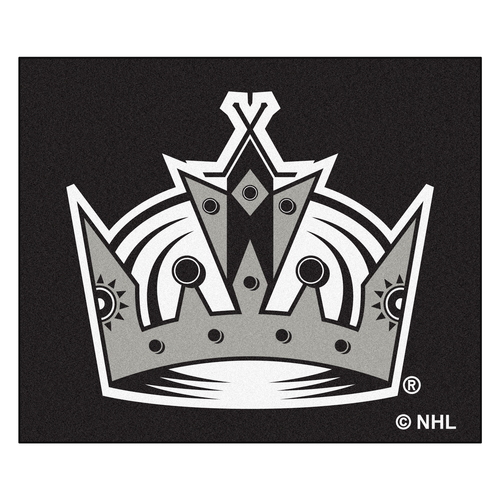 5' x 6' Black NHL Los Angeles Kings Tailgater Mat Rectangular Outdoor Area Rug - IMAGE 1