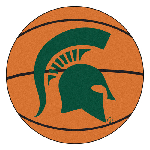 "27"" Orange and Green NCAA Michigan State University Spartans Basketball Mat - IMAGE 1"
