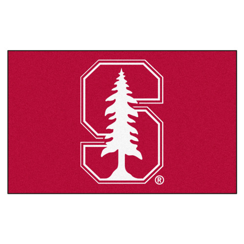 """59.5"""" x 94.5"""" Red and White NCAA Stanford University Cardinal Ulti-Mat Rectangular Outdoor Area Rug - IMAGE 1"""